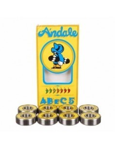 BEARINGS ANDALE ABEC 5 SINGLE YELLOW