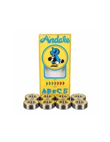RODAMIENTOS ANDALE ABEC 5 SINGLE YELLOW