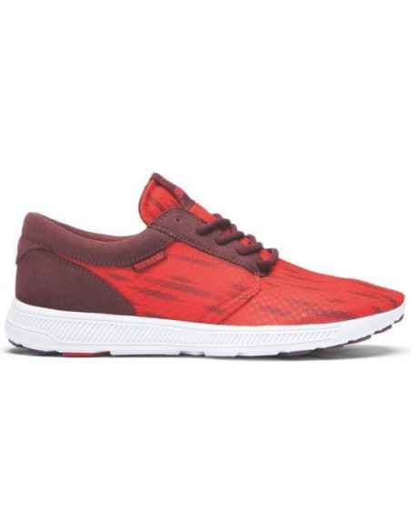 ZAPATILLAS SUPRA HAMMER RUN RED BURGUNDY WHITE