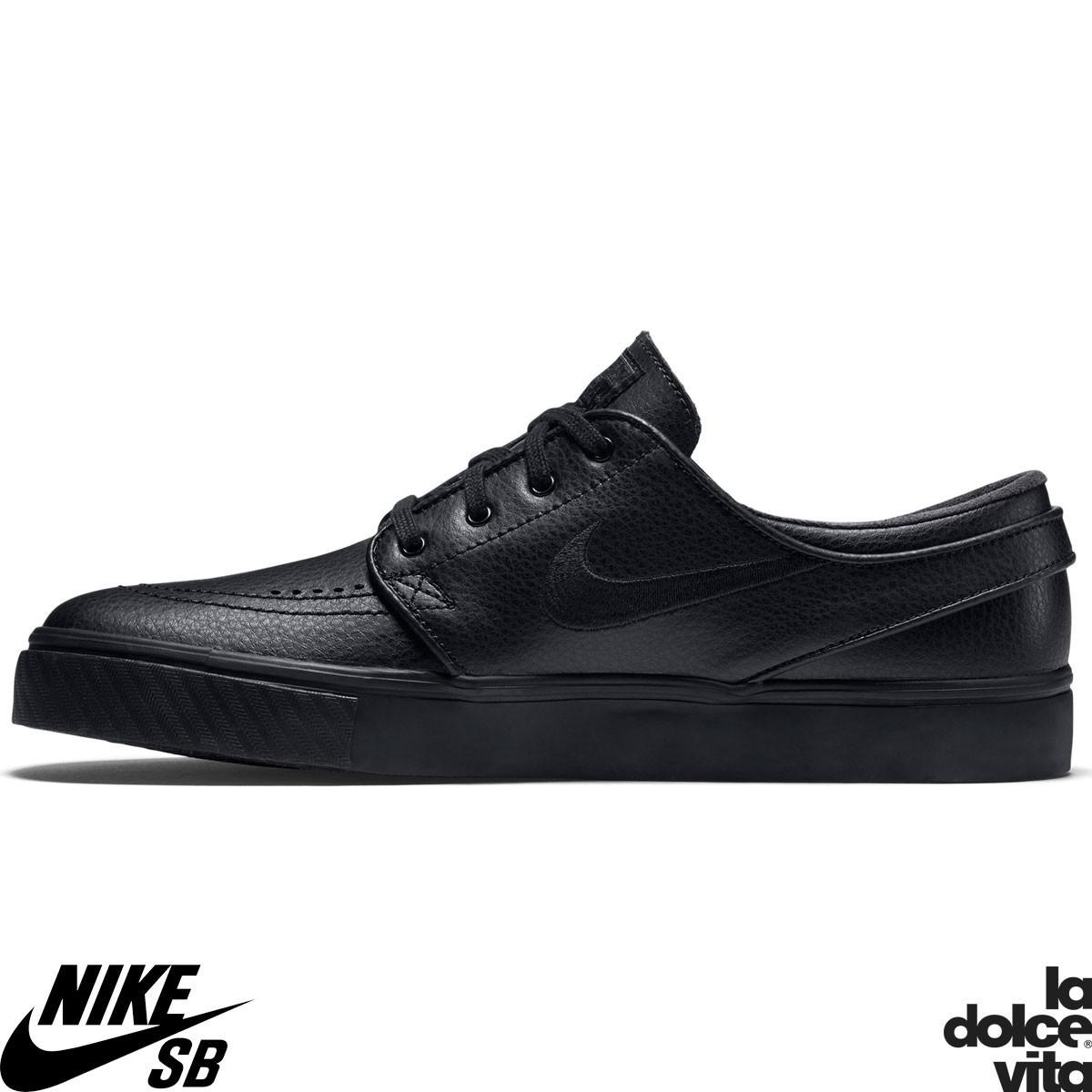 Chaussures Skate Nike SB Noir Stefan Janoski Zoom Noir SB Leather 1adf50