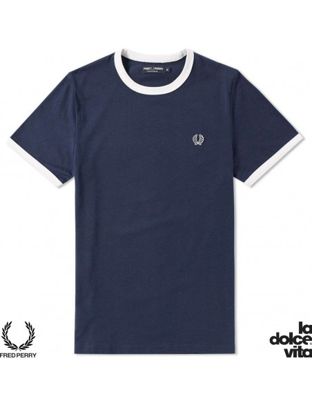 FRED PERRY SPORTS RINGER AZUL CAMISETA