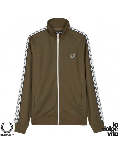 FRED PERRY SPORTS TRAPED TRACK SUDADERA VERDE
