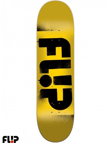 Flip Skateboards Stencil Yellow 7.75