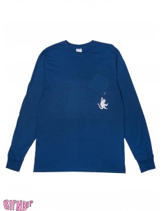 Ripndip Hang in There L/S Blue Heather