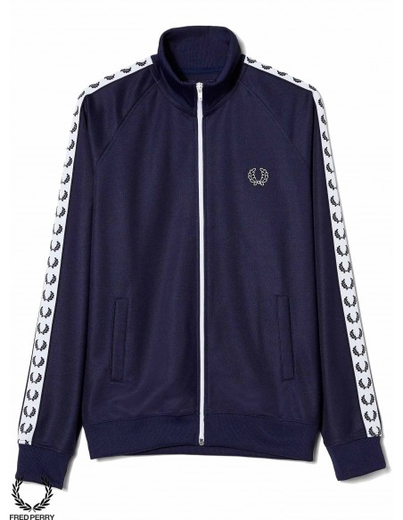 Fred Perry Sports Authentic Taped Track Carbon Blue