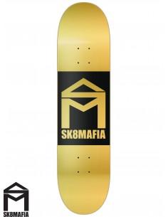 SK8MAFIA House Logo Gold Double Dip 8.38