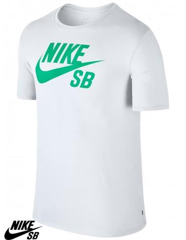 Camiseta Nike SB Logo Blanco   Menta 7ea854ba36a39