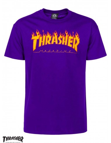 Thrasher Flame Logo Purple