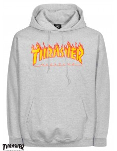 Thrasher Flame Logo Grey