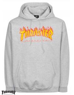 Thrasher Flame Logo Grigio