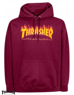 Thrasher Flame Logo Burgundy