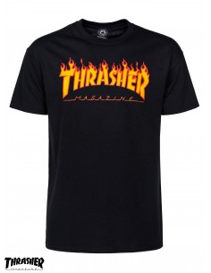Thrasher Flame Logo Black