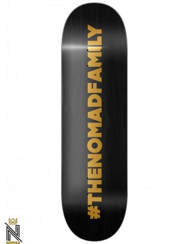 Nomad Skateboards Hashtag Black 8.25