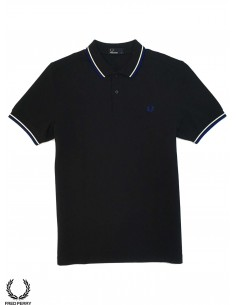 Fred Perry Shirt M3600 Azul Blanco