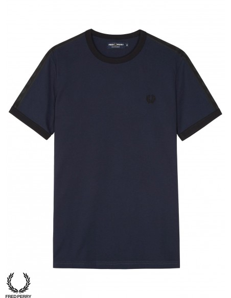 Fred Perry Sports Taped Ringer Navy