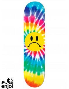 Enjoi Skateboarding Frowney Face Tiedye 8.375