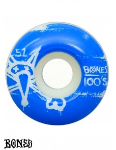 WHEELS BONES 100'S BLACK YELLOW 51MM