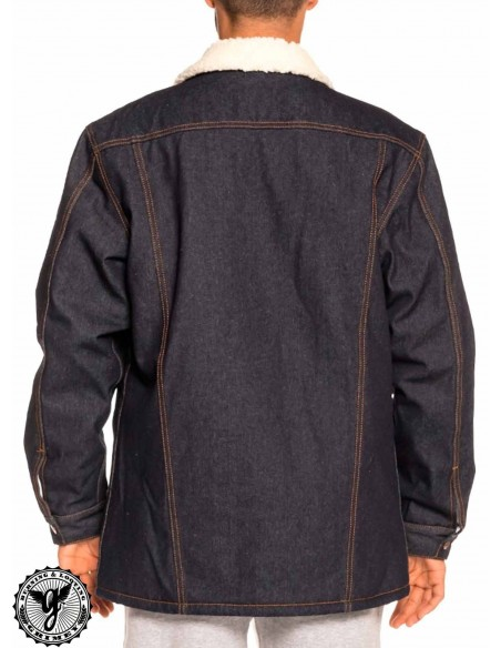 Grimey Runaway Sleeve Denim Jacket Azul