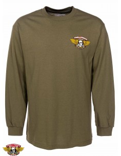 Powell Peralta Winged Ripper Longsleeve Army Green