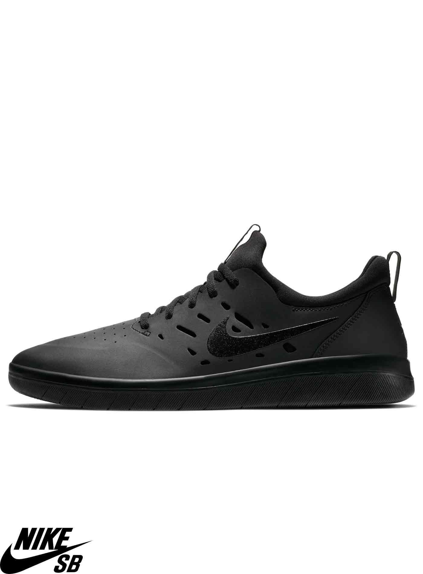 d926bc35fb1d Nike SB Nyjah Free Skateboarding Black Skate Shoes