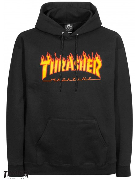 Thrasher Flame Logo Nero