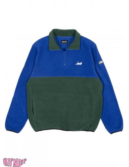 Ripndip Castanza Fleece Half Jacket Azul y Verde