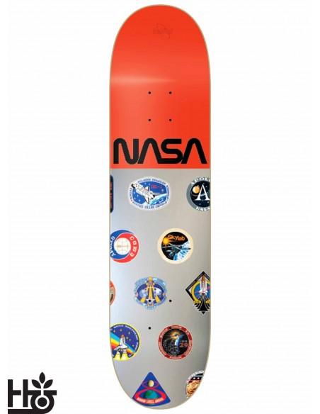 Habitat Skateboards NASA Silver Red 8.125