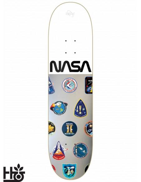 Habitat Skateboards NASA Silver White 8.0