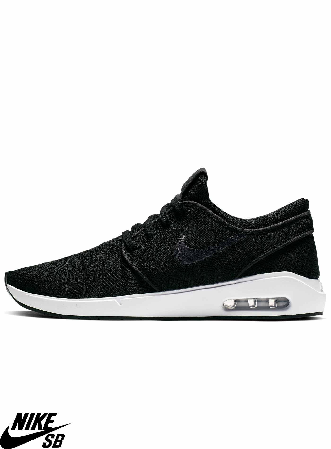 Mens Black Skate Shoes Nike SB Janoski Air Max Mid Anthracite Black & White Skate Shoes Black D Treads
