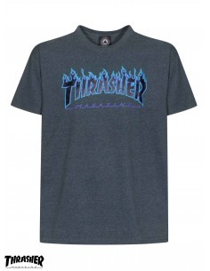 Camiseta Thrasher Flame Logo Dark Heather