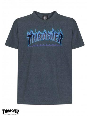Camiseta Thrasher Flame Logo Dark Heather