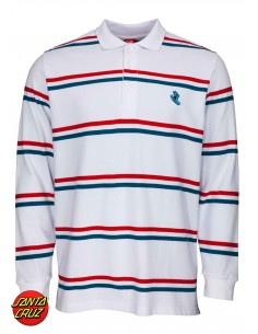 Santa Cruz Screaming Mini Hand striped polo