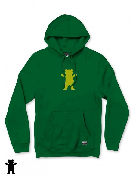 Grizzly Griptape OG Bear Hoodie Forest Green