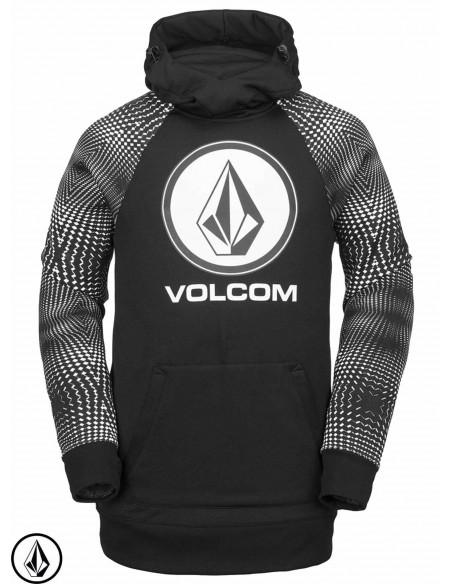 Volcom Hydro Riding Hoodie Schwarz Weiss