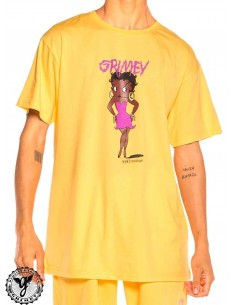 T-Shirt Grimey Face Your Fear Pink