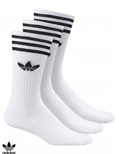 Adidas Solid Crew White Socks