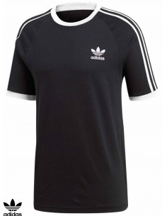Camiseta Adidas Skateboarding 3 Stripes Black