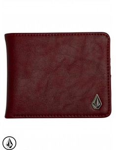 Volcom Slim Stone PU Cabernet Wallet