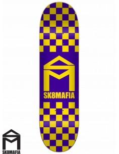 Tabla de Skate SK8MAFIA Checker Purple 8.1