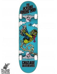 Cruzade The Incredible Farting Man 8.125 Complete Skateboard