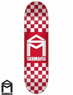 Tabua de Skate SK8MAFIA Checker Red 8.25
