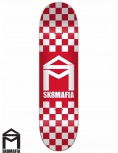 Tavole Skate SK8MAFIA Checker Red 8.25