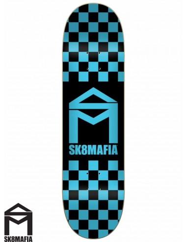 SK8MAFIA Checker Blue 8.3 Deck