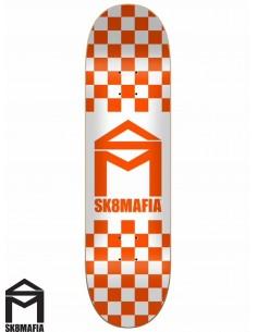 Tabla de Skate SK8MAFIA Checker Orange 8.5