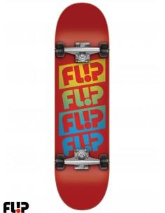 Flip Team Quattro Red 7.88 Skate Completo
