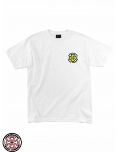 T-Shirt Independent Repeat Cross Blanc