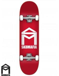 SK8MAFIA House Logo Red 7.87 Skate Completo