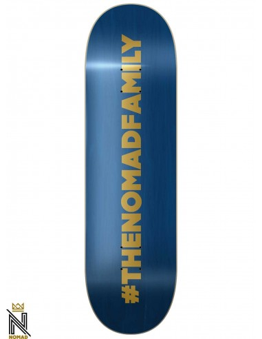 Nomad Hashtag Blue 8.125 Skateboard Deck