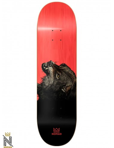 Nomad The Wolf Red 8.25 Skateboard Deck
