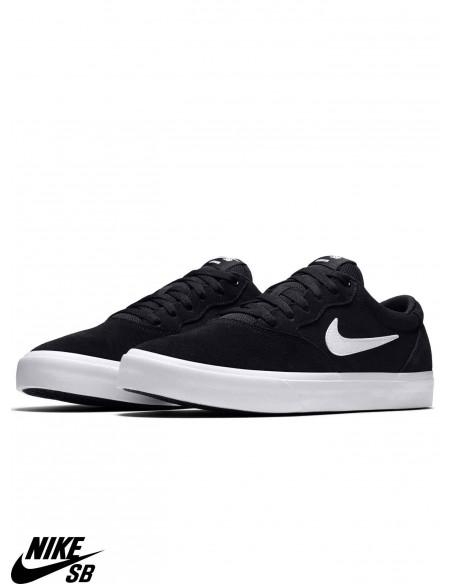 Nike SB Solarsoft Chron Solarsoft Black White Skate Shoes